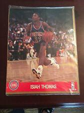 1990-91 NBA Hoops Action Photos Isiah Thomas Detroit Pistons 8x10 Photo New