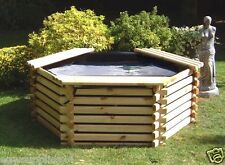 NEW WOODEN POOL 175 GALLON RAISED FISH POND, GARDEN WATER FEATURE