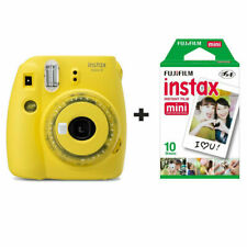 Fujifilm Instax Mini 9 Instant Camera with 10 Shots - Clear Yellow