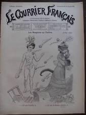 LE COURRIER FRANCAIS 1901 N 45 DESSIN DE A. WILLETTE