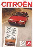 Citroën Citroen BX Prospekt 4/88 1988 Autoprospekt Broschüre brochure brosjyre