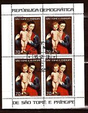 259 SAN TOME E PRINCIPE bloc de 4 timbres obliterés  473A40 Tableau de Rubens