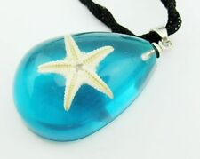 Insect Real Sea Star Starfish Lucite Pendant Blue Drop Fashion Hot