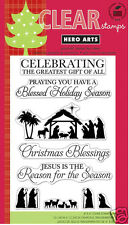 HERO ARTS Clear Stamps GREATEST GIFT # CL559 CHRISTMAS NATIVITY JESUS BLESSINGS