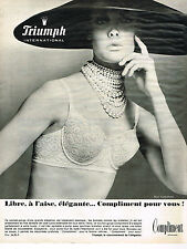 PUBLICITE ADVERTISING 044  1965  TRIUMPH INTERNATIONAL soutien gorge COMPLIMENT2