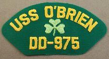 Us Navy Uss O'Brien Dd-975 Cap Patch