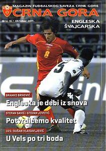 Montenegro v England (Euro 2012 in Podgorica) 2011 - Official programme