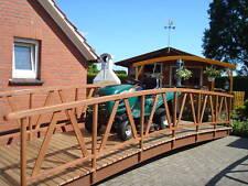 Teichbrücke. Leimbinder. Gartenteiche,Teichbrücken, Holzbrücke, Koiteich.
