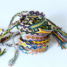 10pcs/lot Mixing Color Friendship Bracelet Handmade Woven Rope String Hippy Boho