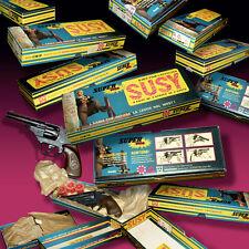 SUSY EDISON GIOCATTOLI REVOLVER RARE ECO BOX OVP 70s AMORCES KNALL PISTOLE WICKE