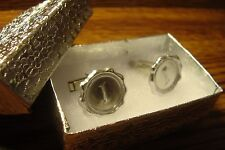 """ I "" Monogram Faux WAX Seal design Cufflinks 1 Pair (Two) * Silver Plated     i"