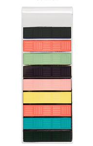 PAUL SMITH Multi-Color Stripes Enamel / Silver Money Clip Bar Clasp $95