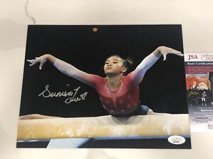 Sunisa Lee Hand Signed 8x10 Photo Tokyo 2021 Olympics Gymnastics Gold USA JSA 1