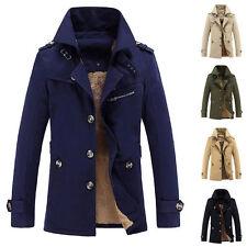 Herren Jacke Winterjacke Wintermantel Trenchcoat Parka Gefüttert Outwear M-5XL