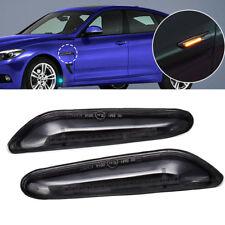 Pair Smoke LED Side Marker Indicator Light Fit BMW E90 E91 etc.