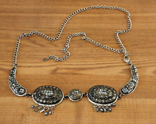 WHITE METAL AND SHELL CHAIN BELT FROM WHISTLES