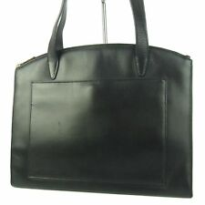 Auth GUCCI G Logos Zip Leather Shoulder Bag Black F/S 470i
