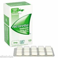 Nicorette Nicotine Gum FRESHMINT FLAVOUR 2mg (105 pieces)