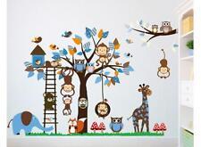 XXL Wandtattoo Afrika Tiere Baum Affe Wandsticker Kinderzimmer Spielzimmer Baby