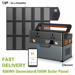 Portable Power Station 606Wh Solar Generator With 18V100W Foldable Solar Panel