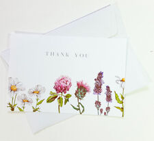 15 Thank You Cards Flower Wedding Notes Business Birthday Thankful Note THANK11
