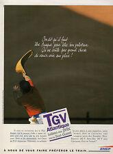 Publicité 1993  SNCF  TGV Atlantique baisse des prix sur le Sud-Ouest