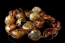 VINTAGE LARGE BROWN AGATE BEADS 400g NECKLACE  AEPC-802