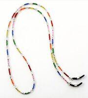 Rainbow Sparkle, Handmade Beaded Eyeglass Sunglass Chain Holder Leash, Multi