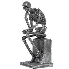 Skulptur Skelett der Denker Figur nach Rodin Dekoration Antik-Stil - 22cm
