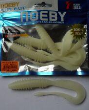 Noeby pêche leurre souple odorant worm twist 14cm non étiré 13g phosphorescent