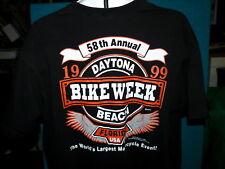 BIKE WEEK 1999 : Daytona Beach : T-SHIRT : Embroidered POCKET @ Size XL