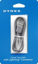 Brand New GRAY Dynex 3 Ft Lightning USB Connector Charge Sync Data Apple Cable