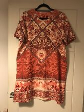 BNWT ASOS Tall Beige & Red Chinese Dragon Floral Print Oversized Dress Sz 14