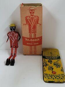 BO JANGLE Dances TIN / Wooden Toy With Box Mechanical Toy Bojangle