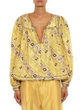 100% AUTHENTIC ISABEL MARANT BLOUSE-ISABEL MARANT GEORGETTE TUNIC TYRON SILK TOP