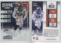 2016 Panini Contenders Cracked Ice Ticket #67 Von Miller Denver Broncos Card