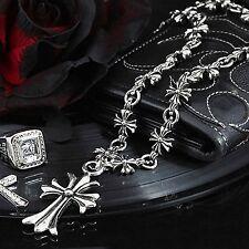 Guntwo Korean Fashion Necklaces - Biker Cross Chain Pendant Necklace N1134 UK