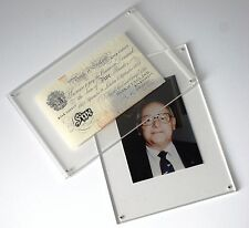 A4 Perspex Certificate, photo, document, collectible display frame with magnets