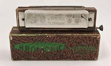 "M. HOHNER ""The Chromonica"" Chromatic Harmonica Original Box Vintage Antique"