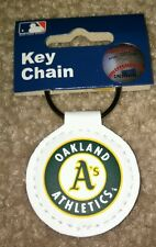 MLB Oakland A's Athletics Official Leather Keychain New Free Shipping