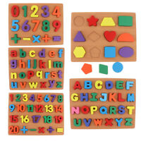 Wooden Puzzle Hand Grab Board Chunky Blocks Set Baby Educational Toys
