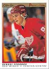 1990-91 O-Pee-Chee Premier Sergei Fedorov Rookie Detroit Red Wings #30
