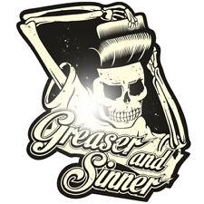Greaser and Sinner Aufkleber Sticker Rockabilly Retro Oldschool Rockabella