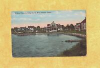 CT West Mystic 1908-29 postcard HOMES AT WILLOW POINT LOOKING NORTH