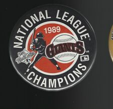 1989 San Francisco Giants National League Champions 3.5-Inch Pinback Button