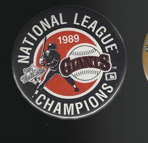 1989 San Francisco Giants National League Champions 3.5-Inch Pinback Button