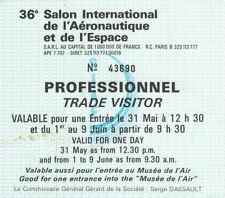 Z19 Billet entrée professionnel 36e Salon International de l'aeronautique Espace