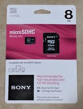 Sony 8GB Micro SDHC Card with Adapter - SR8A4/TQMN