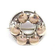 Sylvsmidja 830 Silver Solje Norway Circle Pin Brooch