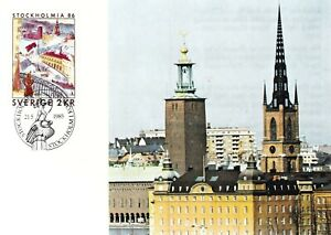 SWEDEN 6 UNUSED POSTCARDS - PC 1984 - 1985